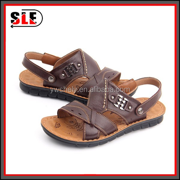 Cheap Wholesale Beach Walk New Model Italian Mens Leather Sandals