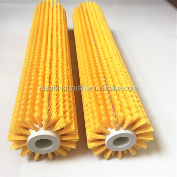 Industrial Nylon Bristle Round Roller Cleaning Brush