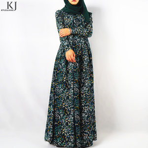 Fashion Maxi Dress Jalabiya Casual Abaya Muslim
