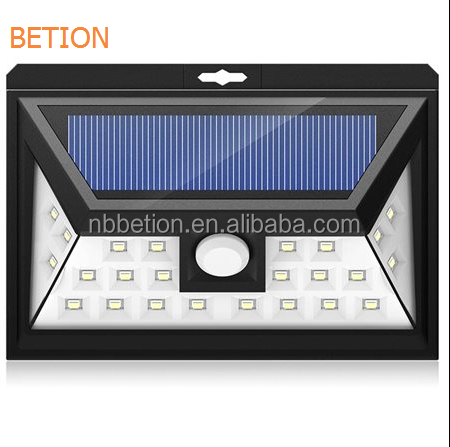 2017Newest 24 LED Outdoor Motion Sensor Solar Lights Wide Angle Design With 3 LEDs Both Side For Driveway