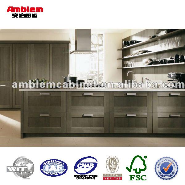 Moderne ontwerp massief houten keukenkast houten keukenkast keuken kasten product id 518213786 - Moderne keukenkast ...