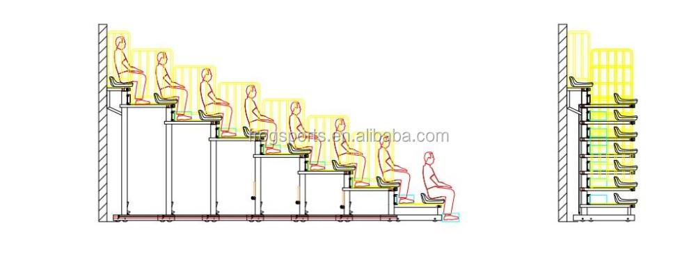 Funzionamento manuale Low-rise A Scomparsa Gradinate
