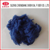 blue recycled polyester staple fiber or towing material