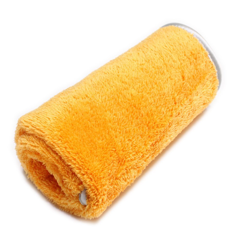 & SALES Microfiber Car Buffing /Wax/Detailing Towels in ORANGE , Fluffy fine piles & Satin Wrapping border, ,15x23 '',Korean Quality Products Guarantee
