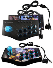 Retro Arcade <span class=keywords><strong>Game</strong></span> <span class=keywords><strong>Joystick</strong></span> <span class=keywords><strong>USB</strong></span> Rocker <span class=keywords><strong>Game</strong></span> <span class=keywords><strong>Controller</strong></span> 3 in 1 voor PS2/PS3/PC/Android OTG telefoon/Android TV/Tablet/TV Box/Projector