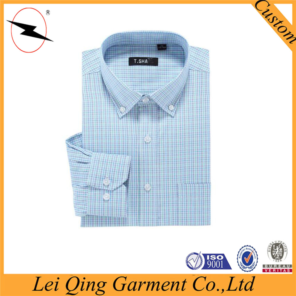 2016 Button up shirts customized dress slim fitted business casual men's shirts
