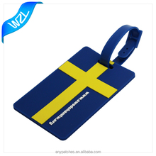 Flag 3D luggage name Rubber key tags, soft plastic key holder