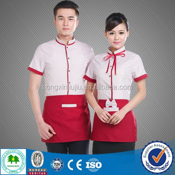 Good Quality Hotel Staff Uniform , Hotel Uniform Design for Waiter