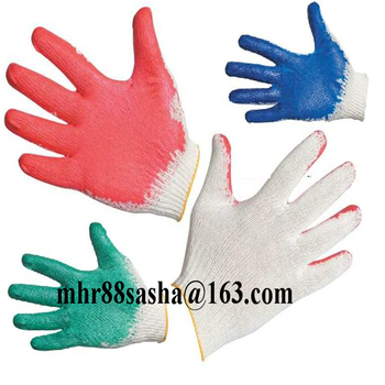 Brand MHR Cheap 10 gauge knitted black latex coated working gloves cotton lined rubber glove