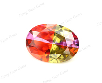 oval shape multi color synthetic zircon mixed stones oval