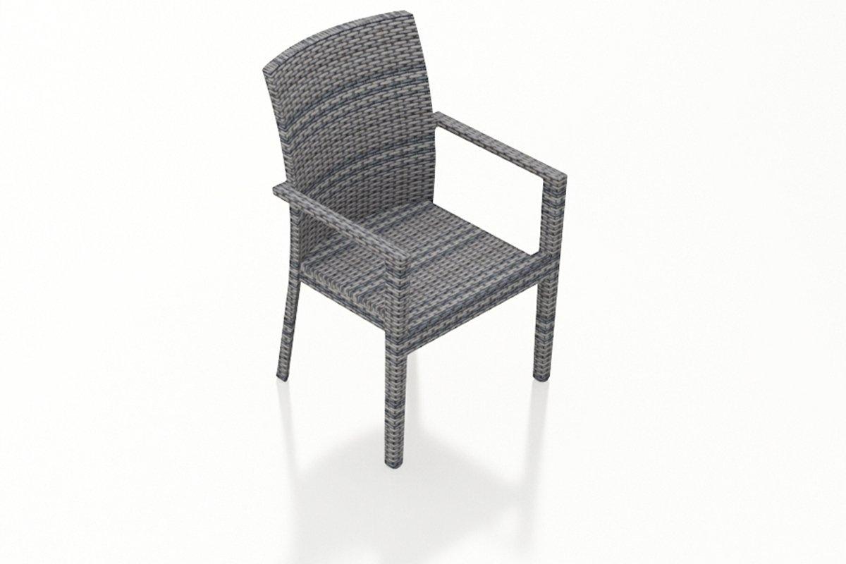 Harmonia Living Urbana 2 Piece Modern Outdoor Wicker Dining Armchairs (SKU HL-URBN-WS-2DAC-NC)