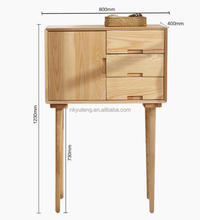 Kitchen furniture creative high foot wooden storage cabinet with drawers