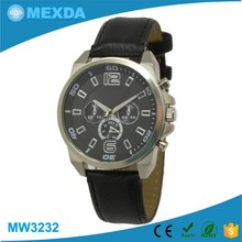 hot sell 3 atm waterproof man leather western wrist watches