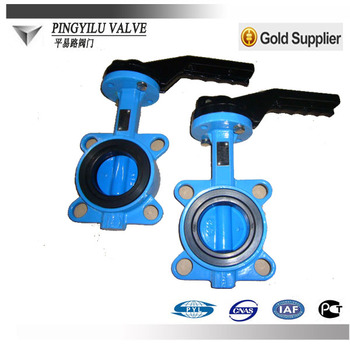 Grey Cast Iron Dn150 Wafer Butterfly Valve Price