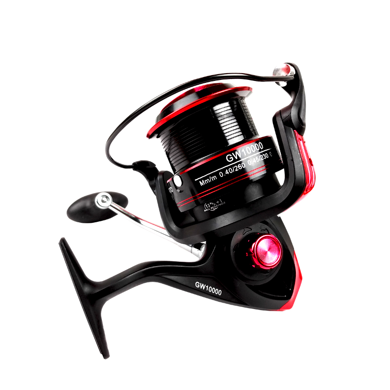13+1 BB super metal fishing wheel casting spin fishing reel surf fishing reel, Black+red/blk+gold