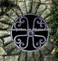 GYD-15WG068 Newest and classical flower wrought iron window grill design