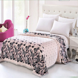 SZPLH China super soft coral fleece blanket 100% polyester mink blanket flower printing blanket