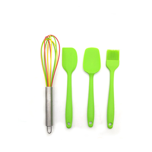 Silicone Kitchen Utensils Cooking Set Heat Resistant Utensils Cookware Spatula Set,4pcs