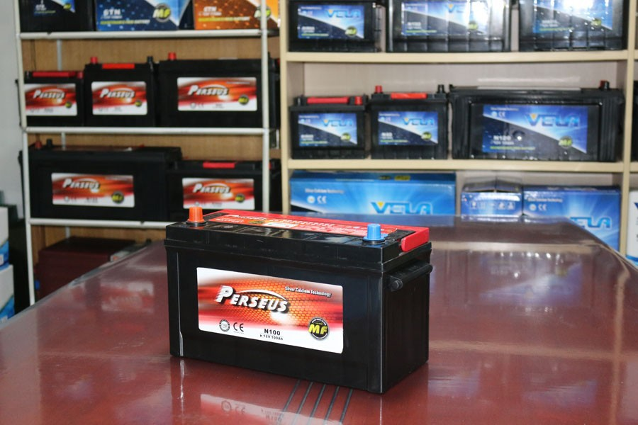 N100MF/MFN100L/MF100/N100LMF/95E41RMF/MF95E41R Wet type long post lead acid car battery MFJIS100ah