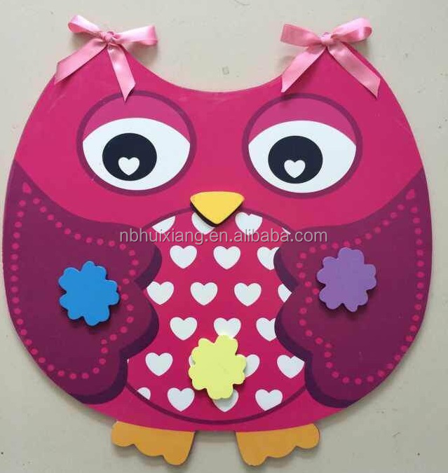Paper powder iron magnetic owl message memo board