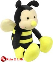 Meet EN71 and ASTM standard ICTI plush toy factory wholesale plush toy bee