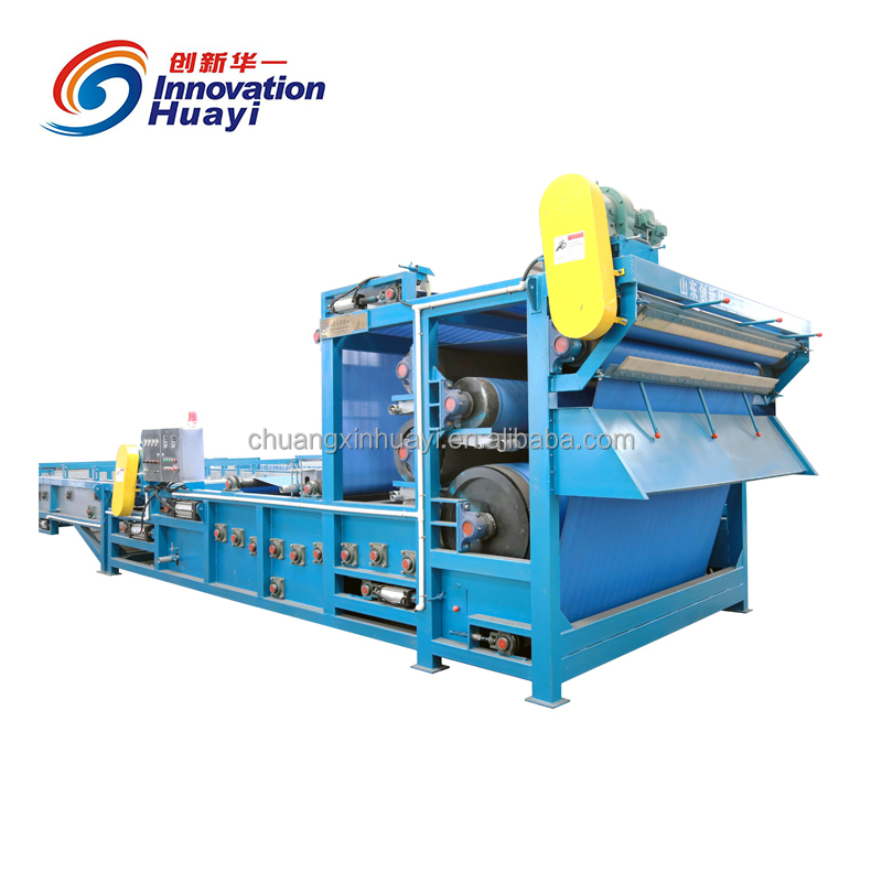 CXSW sludge dewatering belt press, sludge remover