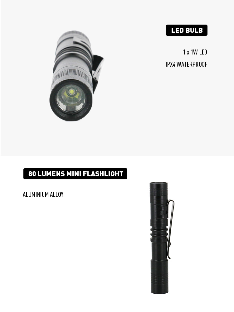 Factory Supplies Most 1W EDC Light Weight Medical LED Torch Penlight with 20.8g