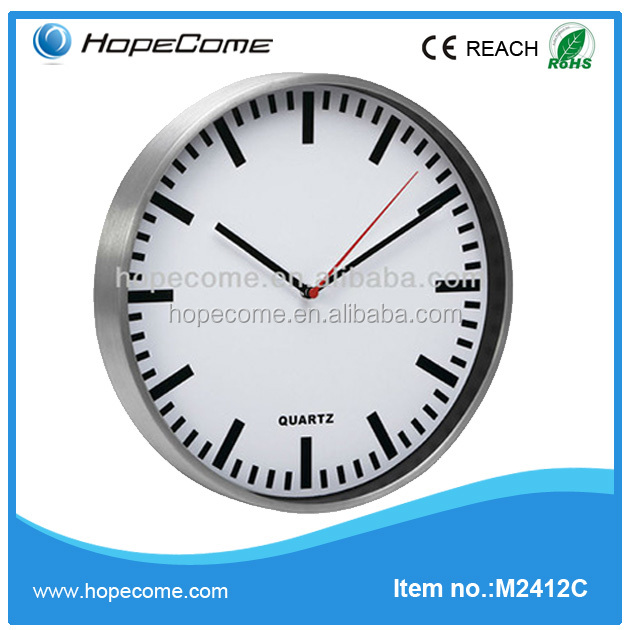 (M2412C) Round 12 inch quartz wall clock retro products
