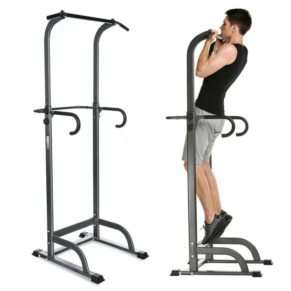 Buy New Chin Up Stand Pull Up Bar Dip Power Tower Home Gym Fitness