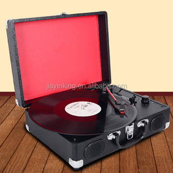 Pc Encoding Suitcase Vinyl Record Player With Bluetooth
