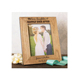 customized size laser engraving 4*6inch wooden photo picture frame for wedding