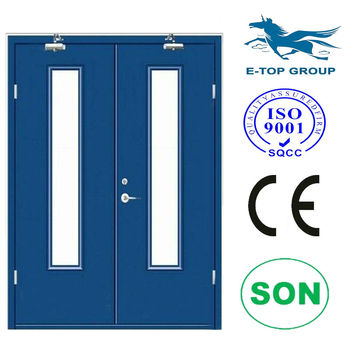 E top door double fire exit door 3 hour fire rated door for 1 hour fire rated door price