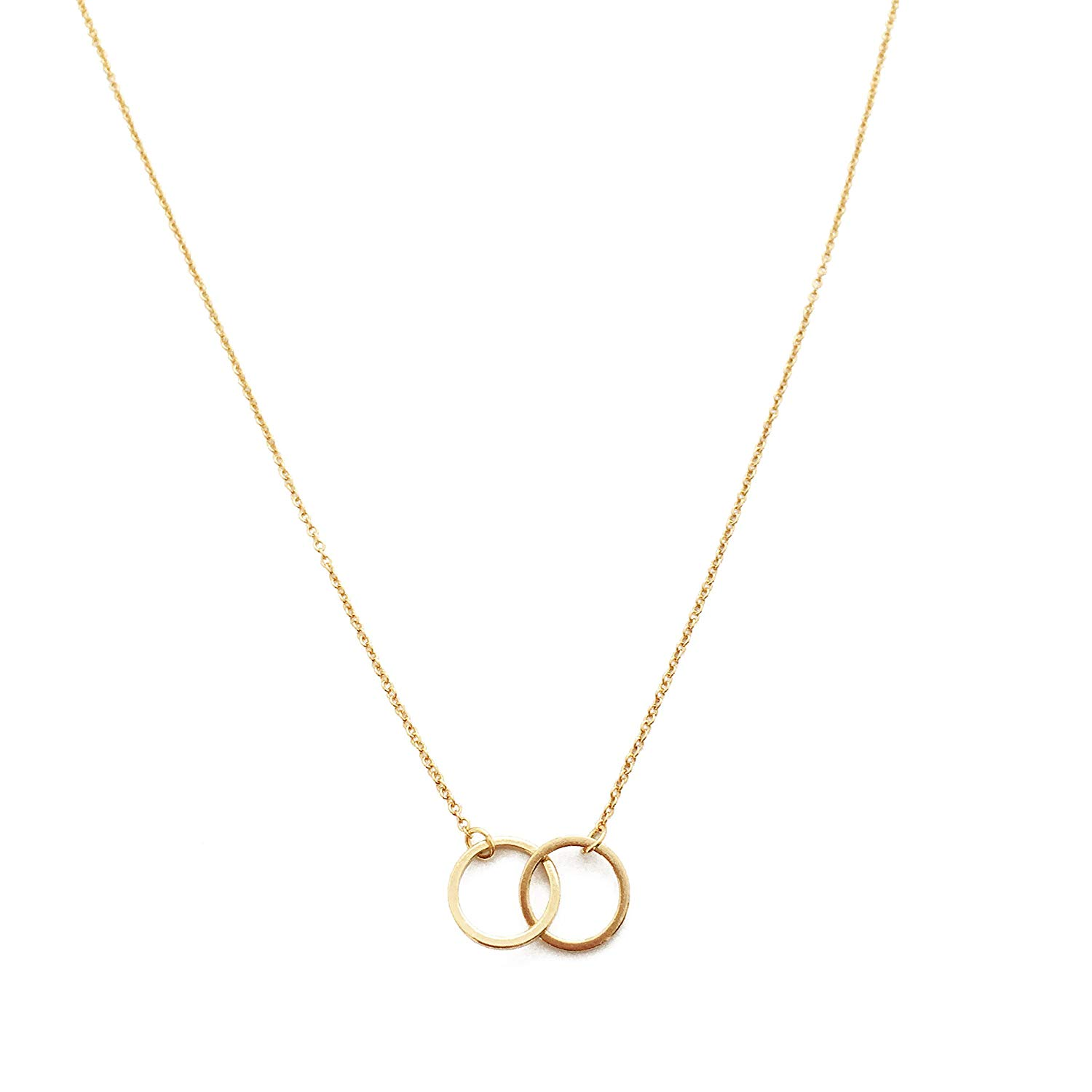 7b4389f81 Get Quotations · HONEYCAT Harmony Interlocking Circle Necklace in Gold,  Rose Gold, or Silver | Delicate Jewelry