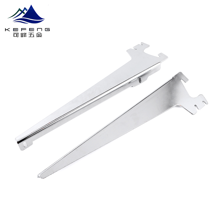 Wholesale Supermarket angle hooks glass shelf Slotted brackets