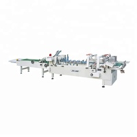 ZH-580 double sides box automatic folder gluer folding and gluing machine