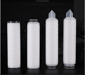 China Factory High Purity 0.2 micron Sediment Nylon / PTFE/ PES / PP Pleated Membrane Water Filter Cartridge