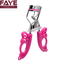 Butterfly style plastic mini handle bling carbon stainless steel fashion eyelash curler