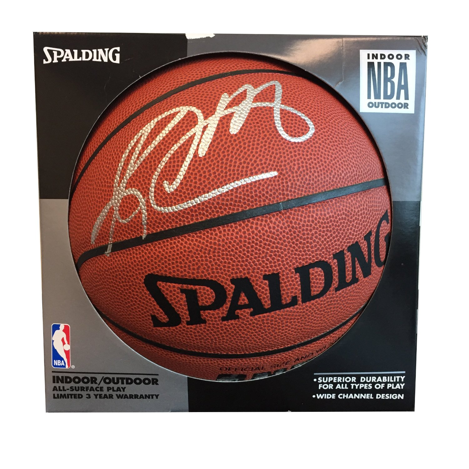 683e5ff04a4 Get Quotations · Utah Jazz - Autographed Karl Malone Spalding Basketball