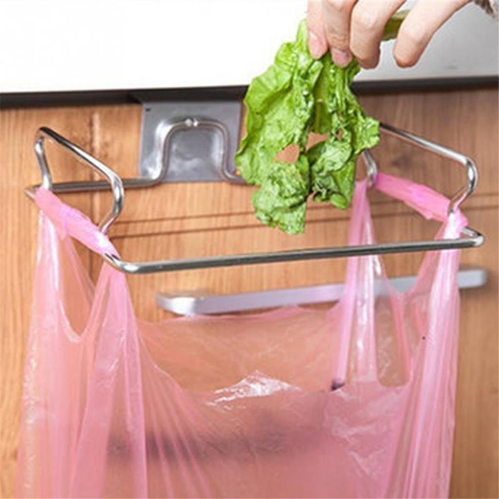 Hook Rail/Coat Rack Stainless Steel Kitchen Cupboard Drawer Door Waste Bin Stand Scrap Trap Bowl Dustbin Hanging Integrated Kitchen Bin