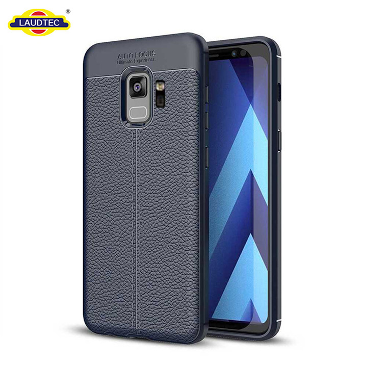 Hot selling Litchi texture soft gel TPU case for Samsung S9 cover case