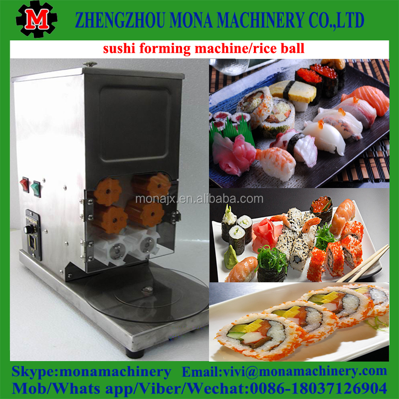Automatic Sushi rice roll molding machine/ Smooth surface sushi forming machine