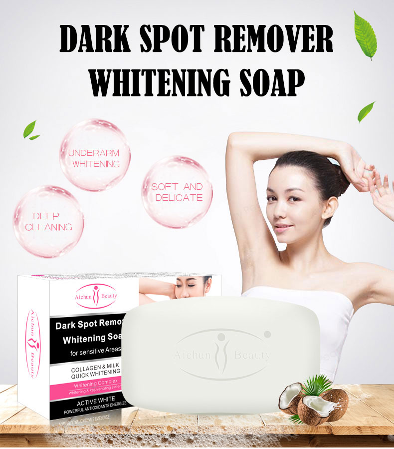 Aichun Beauty Milk Dark Spot Remover Private Label Best Skin Bath Body Whitening Soap For Black Skin