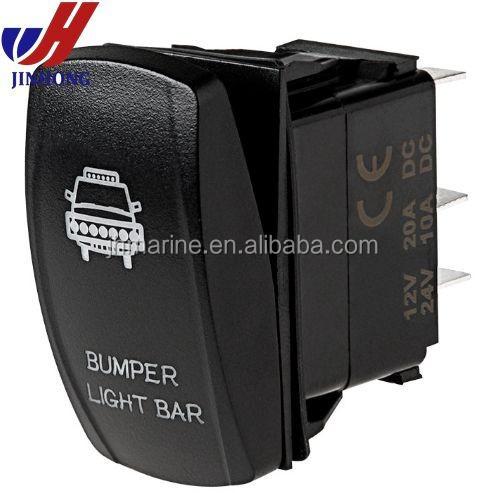 BLUE On//Off Laser Etched Rocker Switch BLUE BUMPER Lights 12V UTV Marine Truck