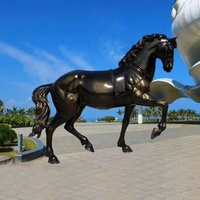 Fast delivery life size fiberglass life size animal large garden horse statues