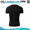 Custom Men's 100% Cotton Plain Black T shirts