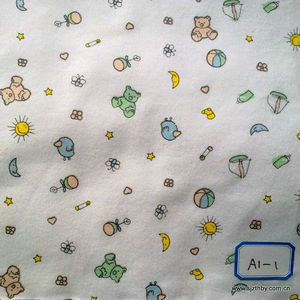 plain kids style printed 100% cotton fabric