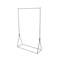 Stainless Steel Clothes Hanger Rack American Display Stand Shelf