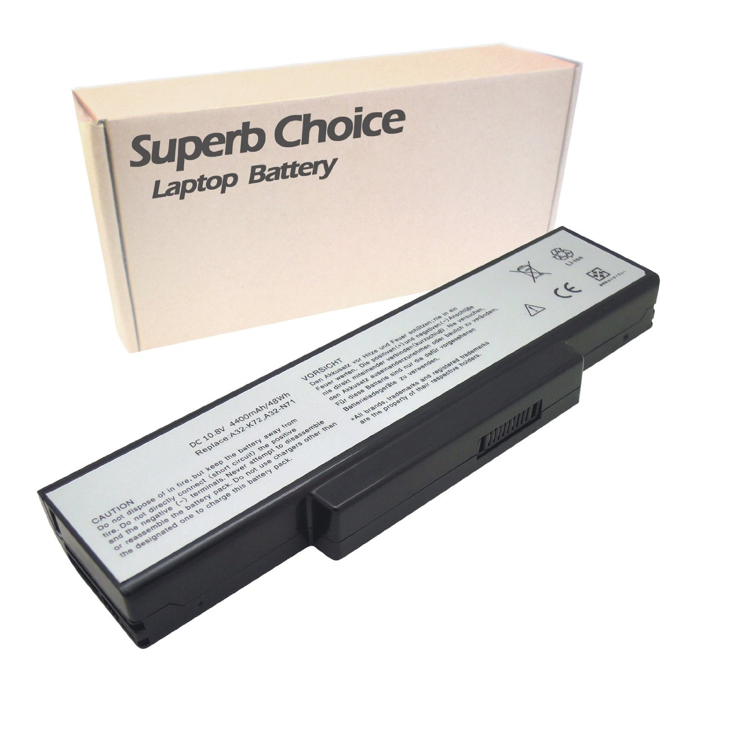ASUS A32-K72 Laptop Battery - Premium Superb Choice® 6-cell Li-ion battery