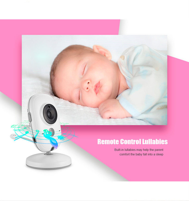 3.2 Inch LCD Display VB603 Night Vision Wireless Baby Monitor Camera 2 Way Audio Temperature Monitor Video Baby Monitor VB603