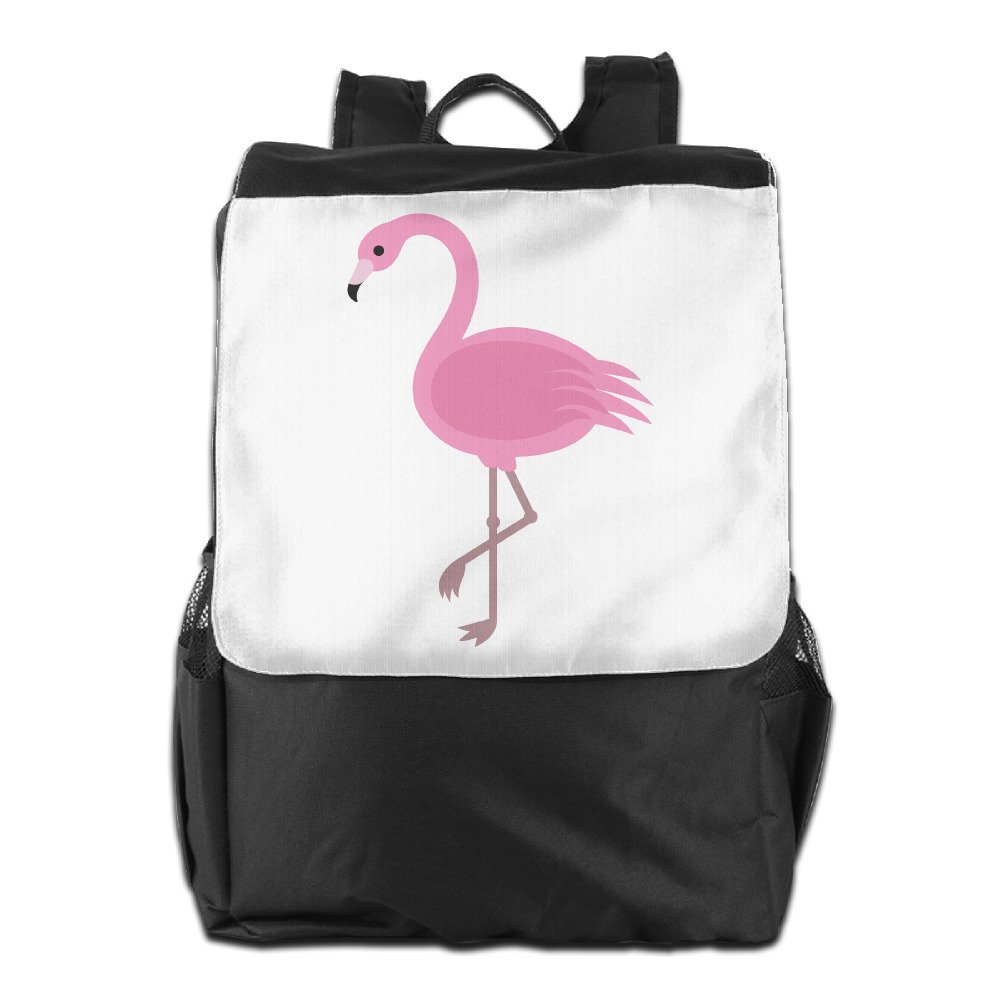 577501fe42 Get Quotations · AIJFW Outdoor Travel Bag - Pink Flamingos Unisex Backpack  Daypack Bookbags Rucksack School Bookbags Bag